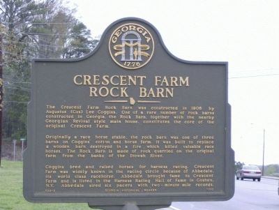 Crescent Farm Rock Barn Marker image. Click for full size.