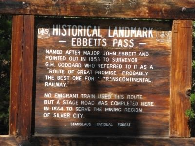 Ebbetts Pass Marker image. Click for full size.