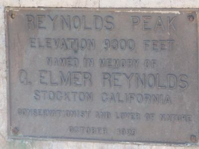 Reynolds Peak Marker image. Click for full size.