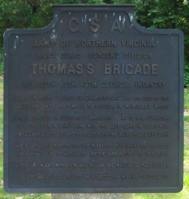 Thomas's Brigade Tablet image. Click for full size.