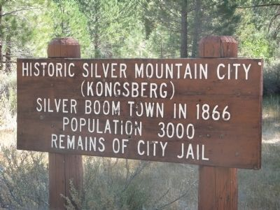 Historic Silver Mountain City Marker image. Click for full size.