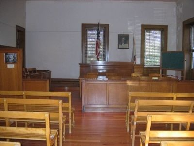 Court Room Where Black Bart was Tried, Convicted and Sentenced image. Click for full size.