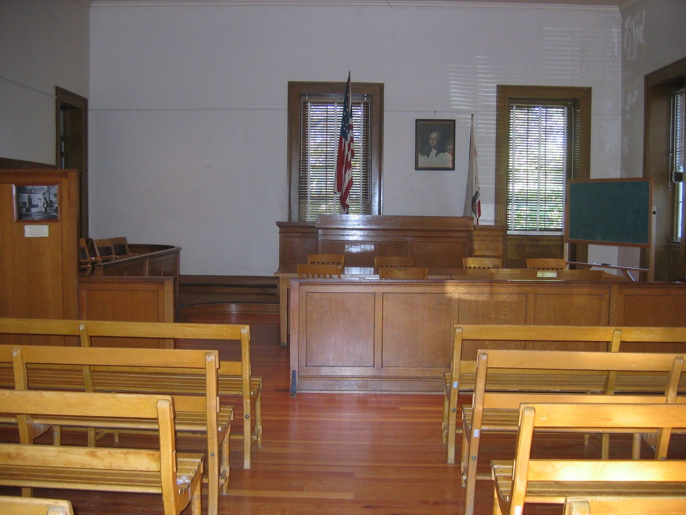 Court Room Where Black Bart was Tried, Convicted and Sentenced