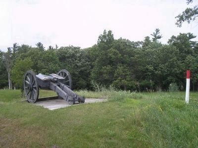 British Cannon at the Balcarres Redoubt image. Click for full size.