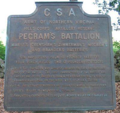 Pegram's Battalion Tablet image. Click for full size.