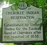 Cherokee Indian Reservation Marker image. Click for full size.