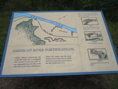 American River Fortifications Marker image. Click for full size.