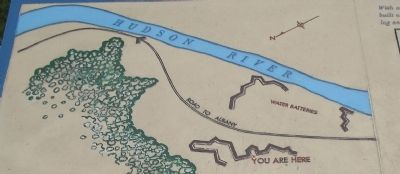 American River Fortifications Map from Marker image. Click for full size.