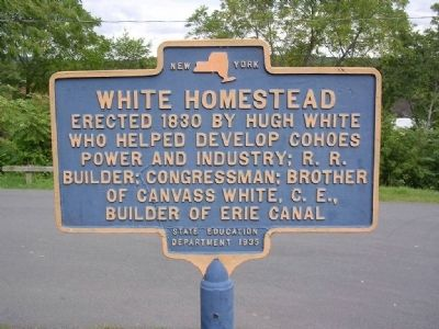 White Homestead Marker - Waterford, New York image. Click for full size.
