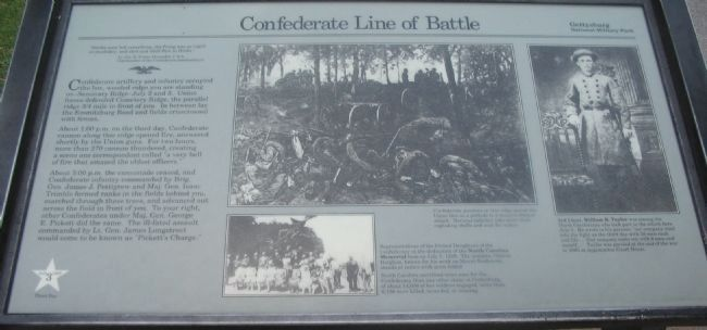 Confederate Line of Battle Marker image. Click for full size.