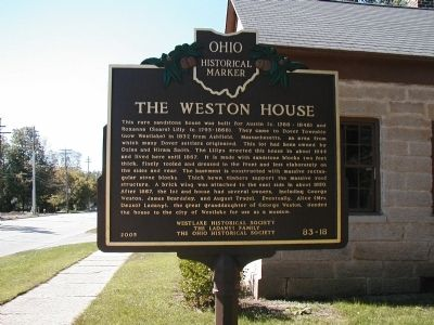 The Weston House Marker image. Click for full size.