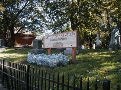 Fairview Park Cemetery sign image. Click for full size.