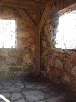Inside the Fort Mountain State Park Stone Tower image. Click for full size.