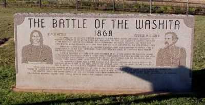 The Battle of the Washita Marker image. Click for full size.