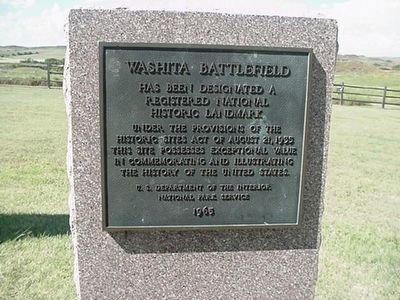 Washita Battlefield National Historic Landmark Marker image. Click for full size.