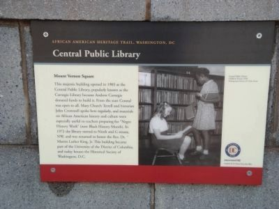 Central Public Library Marker image. Click for full size.