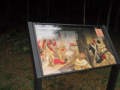 Marker on Guilford Courthouse Battlefield image. Click for full size.