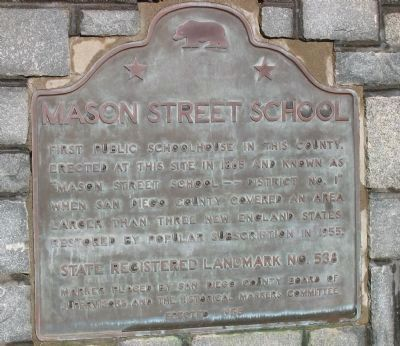Mason Street School Marker image. Click for full size.