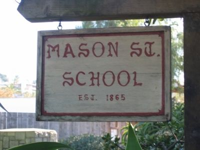 Mason Street School Sign image. Click for full size.