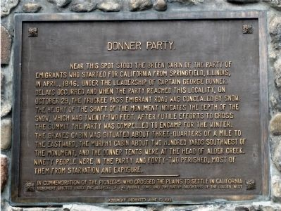 Donner Party Marker image. Click for full size.