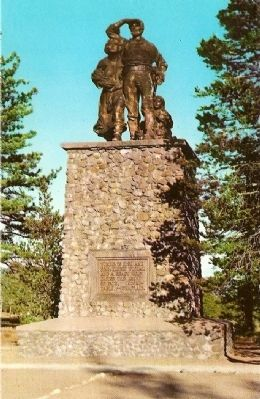 Vintage Postcard - Donner Monument image. Click for full size.