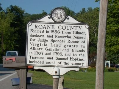 Roane County face of Marker image. Click for full size.