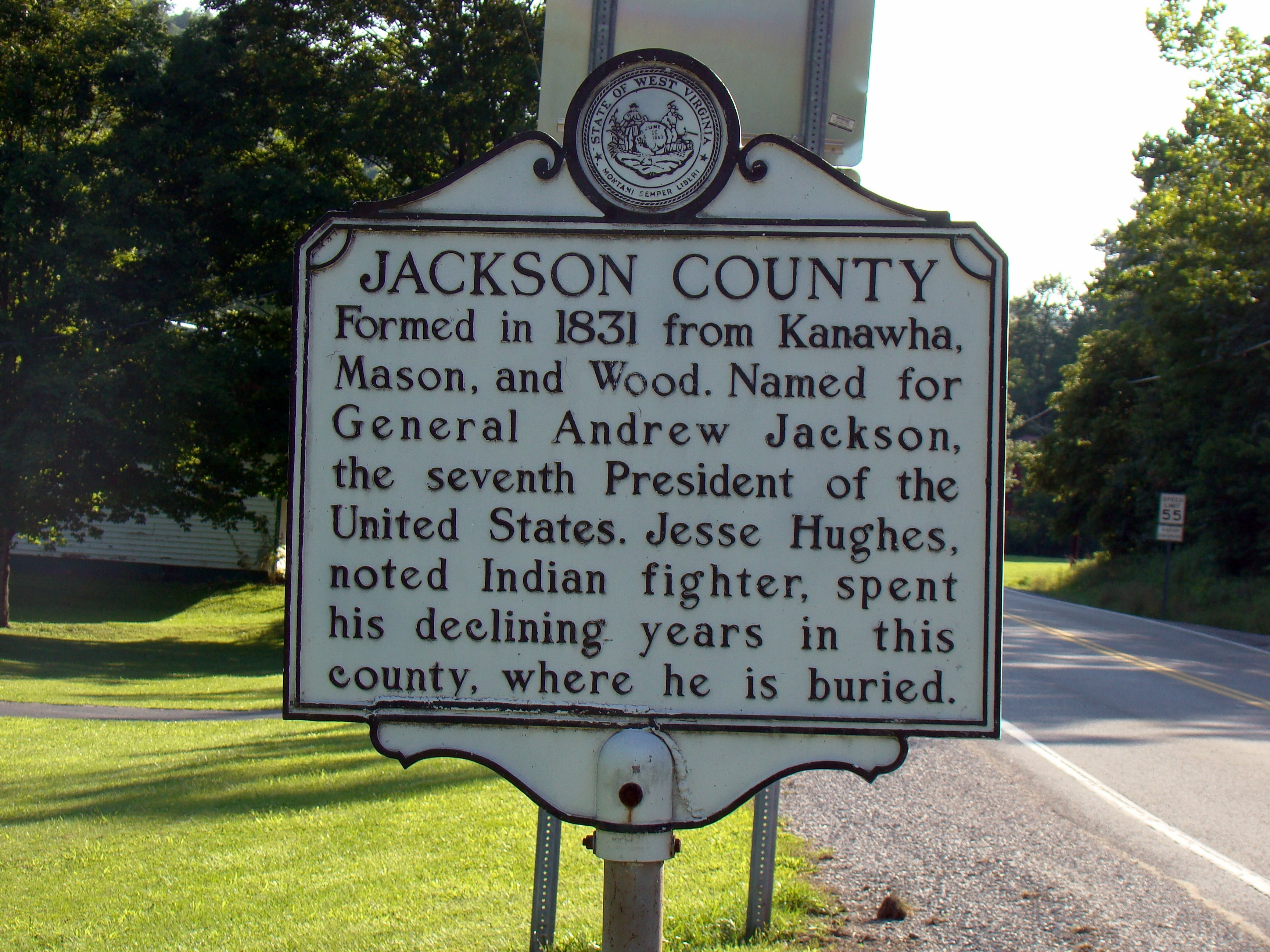 Jackson County Face of Marker
