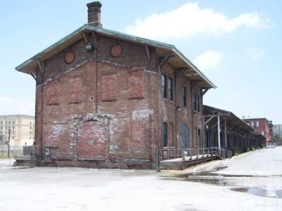 Central of Georgia Old Freight Station, rear view image. Click for full size.