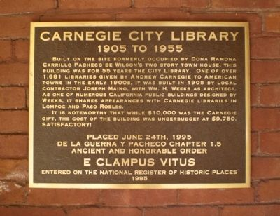 Carnegie City Library Marker image. Click for full size.