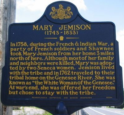 Mary Jemison Marker image. Click for full size.
