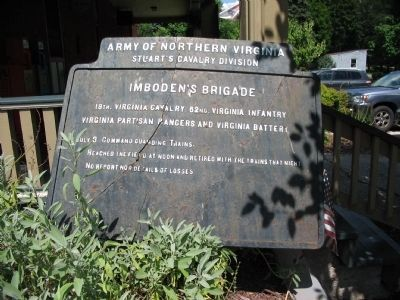 A Somewhat Battered Imboden's Brigade Tablet image. Click for full size.