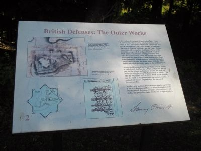British Defenses: The Outer Works Marker image. Click for full size.