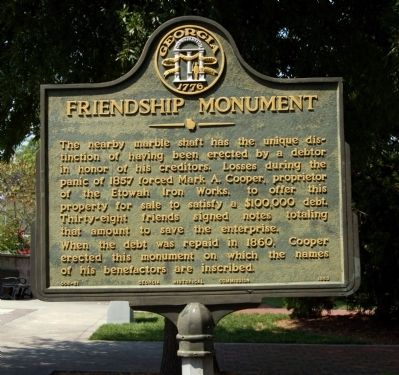 Friendship Monument Marker image. Click for full size.