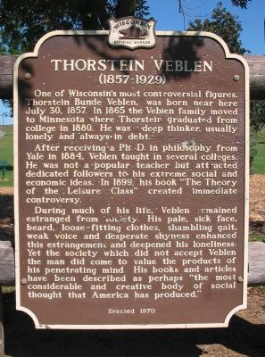 Thorstein Veblen Marker image. Click for full size.