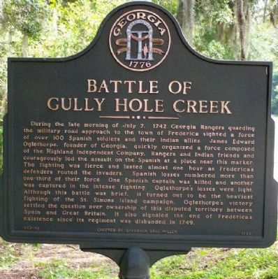 Battle of Gully Hole Creek Marker image. Click for full size.