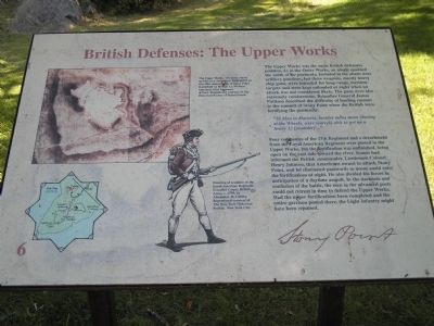 British Defenses: The Upper Works Marker image. Click for full size.