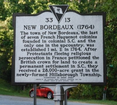 New Bordeaux (1764) Marker - Front image. Click for full size.