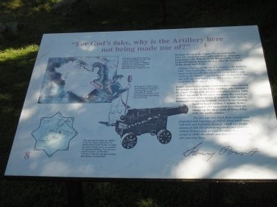 """For God's sake, why is the Artillery here not being made use of?"" Marker image. Click for full size."