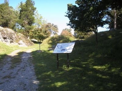 Marker on Stony Point Battlefield image. Click for full size.