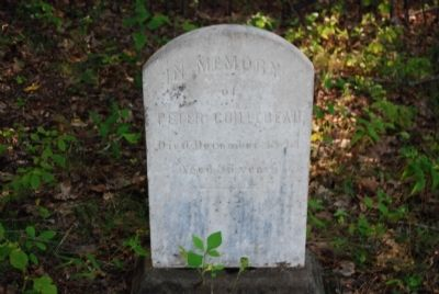 Peter Guillebeau Tombstone image. Click for full size.