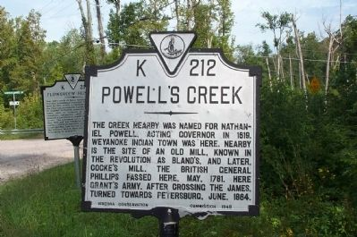 Powell's Creek Marker image. Click for full size.