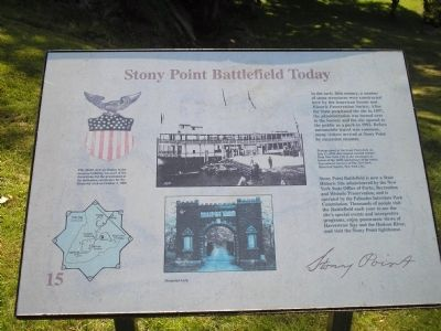 Stony Point Battlefield Today Marker image. Click for full size.