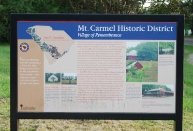 Mt. Carmel Historical District Marker image. Click for full size.
