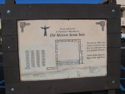 Mission Santa Ines Site Diagram image. Click for full size.