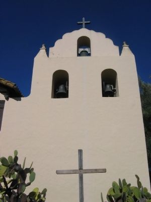 Mission Santa Ines Bell Tower image. Click for full size.