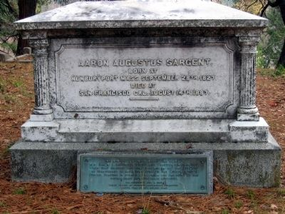 Pioneer Cemetery Grave Monument image. Click for full size.