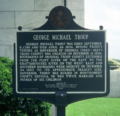 George Michael Troup Marker image. Click for full size.