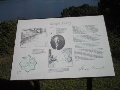 King's Ferry Marker image. Click for full size.