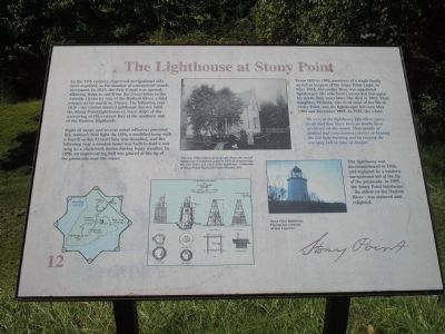 The Lighthouse at Stony Point Marker image. Click for full size.