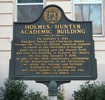 Holmes/Hunter Academic Building Marker image. Click for full size.